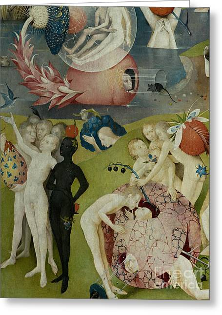 Detail Of The Central Panel Of The Garden Of Earthly Delights Greeting Card by Hieronymus Bosch