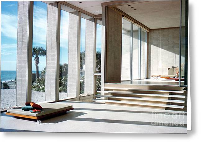 Detail Of The Deering House By Architect Paul Rudolph Greeting Card