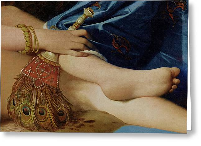 Detail Of The Grand Odalisque Greeting Card