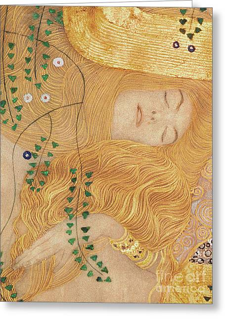 Detail Of Water Serpents I Greeting Card by Gustav Klimt