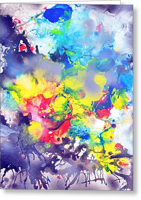 Detail The Emergence Of Color Greeting Card