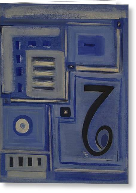 Details In Blue Greeting Card by Sandy Bostelman
