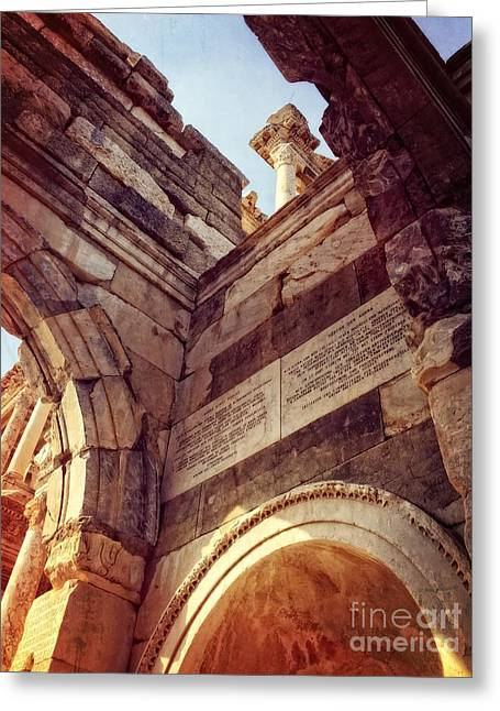 details of Ephesus Greeting Card by HD Connelly