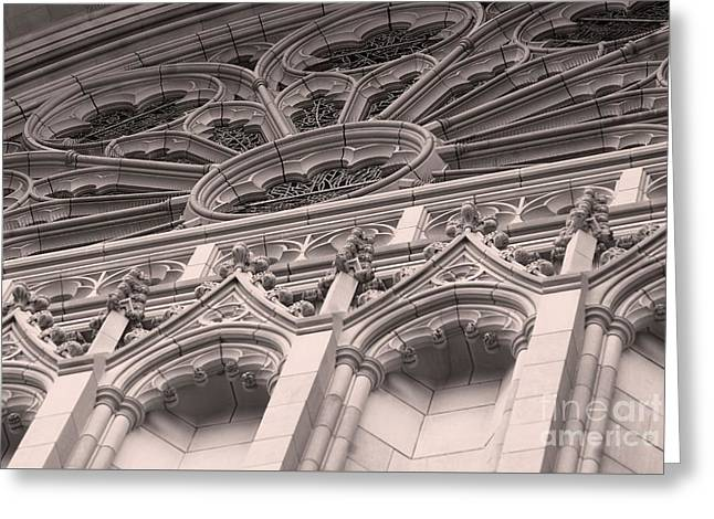 Details Of The National Cathedral Greeting Card