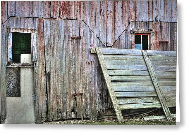 Deteriorated Side Of The Barn Greeting Card by William Sturgell
