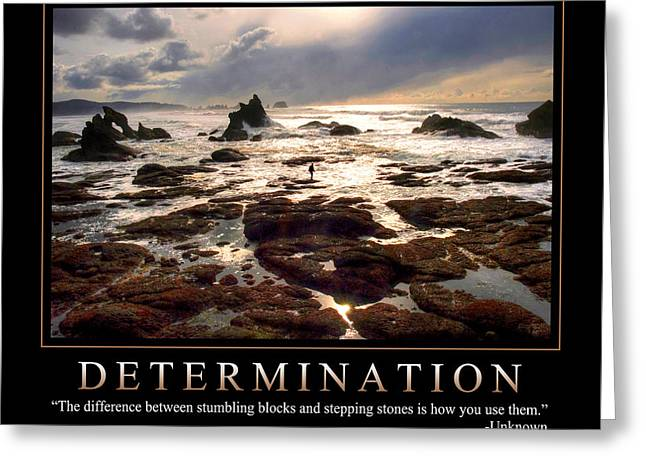 Determination 1 Greeting Card