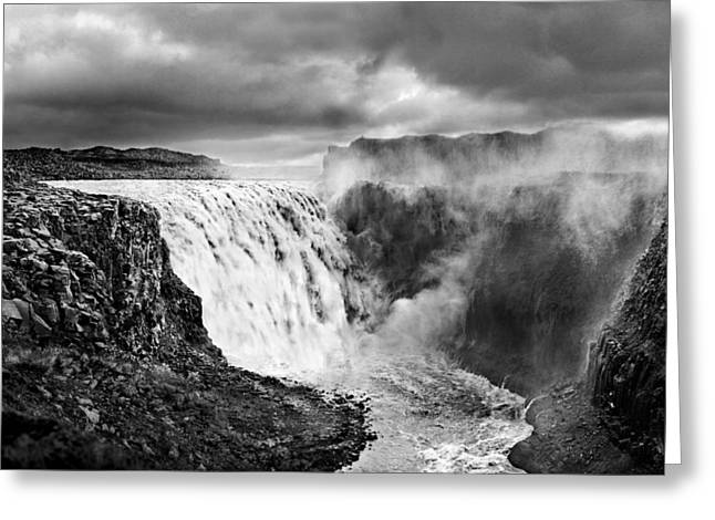 Dettifoss Waterall, Iceland. Greeting Card