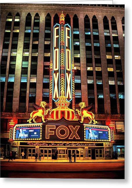 Detroit Fox Theatre Marquee Greeting Card