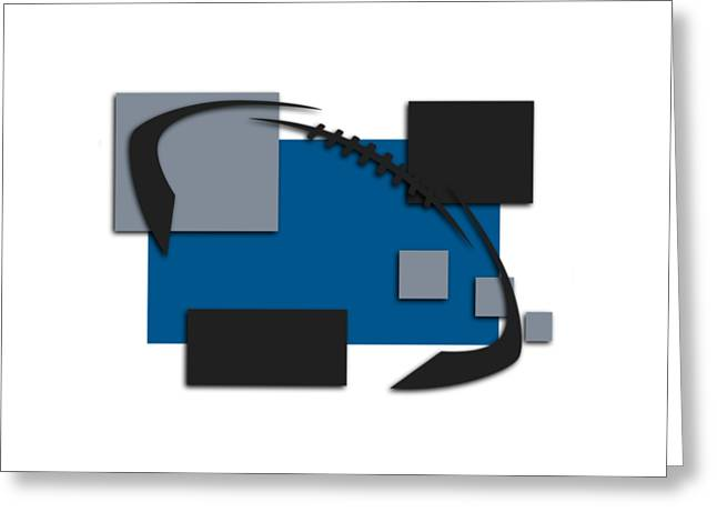 Detroit Lions Abstract Shirt Greeting Card