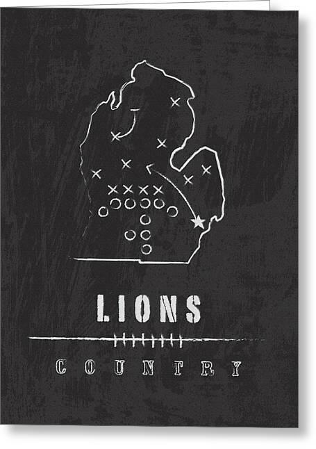 Detroit Lions Art - Nfl Football Wall Print Greeting Card by Damon Gray