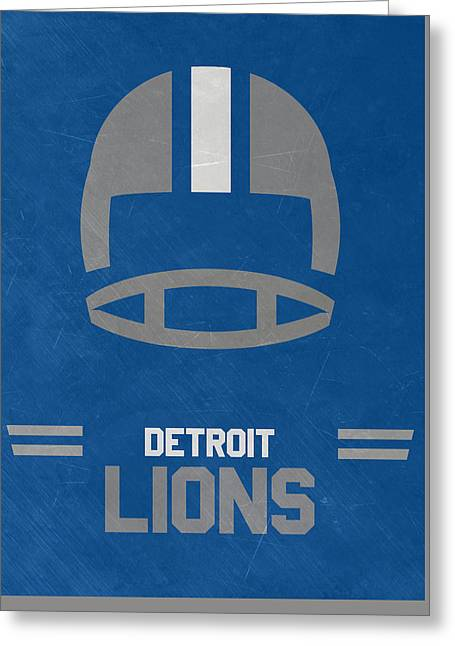 Detroit Lions Vintage Art Greeting Card