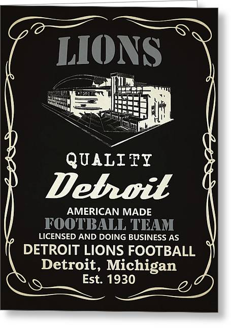 Detroit Lions Whiskey Greeting Card