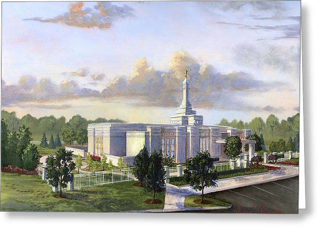 Blue Angels Greeting Cards - Detroit Michigan Temple Greeting Card by Jeff Brimley