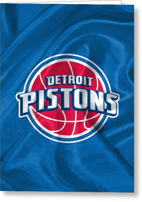 Detroit Pistons Greeting Card by Afterdarkness