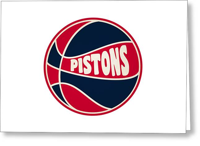 Detroit Pistons Retro Shirt Greeting Card
