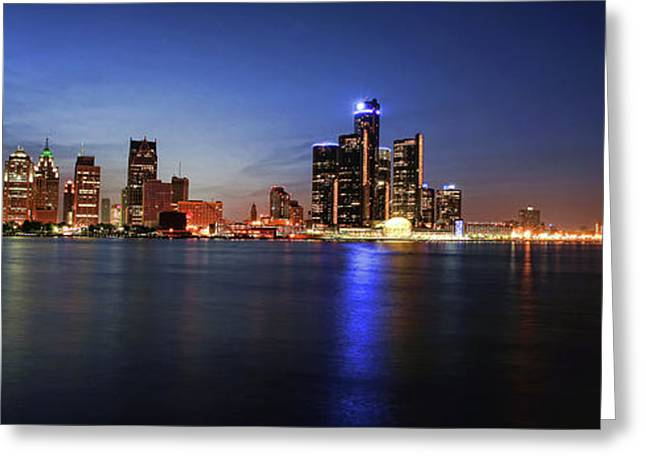 Detroit Skyline 1 Greeting Card