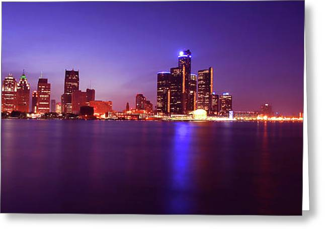 Detroit Skyline 2 Greeting Card