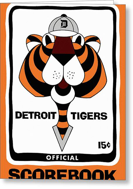 Detroit Tigers 1965  Vintage Scorebook Greeting Card