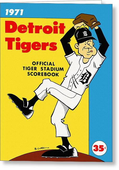 Detroit Tigers 1971 Scorebook Greeting Card