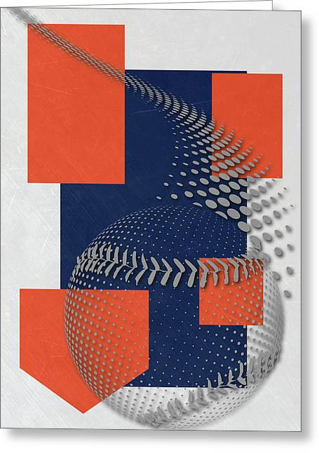 Detroit Tigers Art Greeting Card by Joe Hamilton
