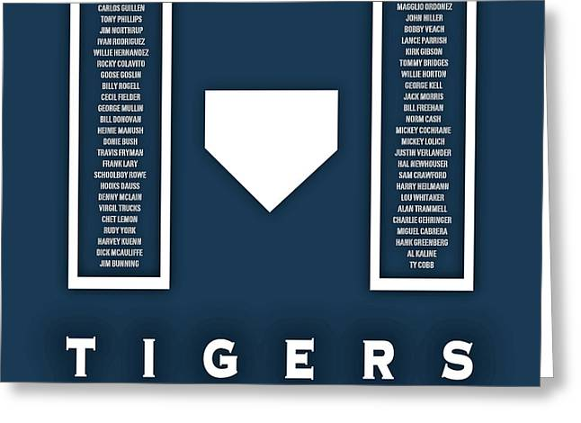 Detroit Tigers Art - Mlb Baseball Wall Print Greeting Card by Damon Gray