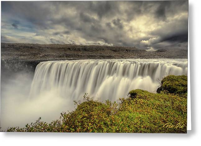 Greeting Card featuring the photograph Dettifoss Before The Storm by Rikk Flohr