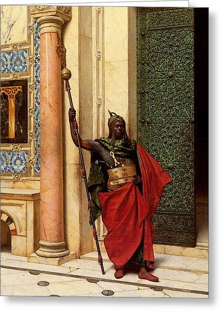 Deutsch Ludwig A Nubian Guard Greeting Card