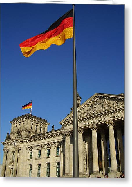 Deutscher Bundestag Greeting Card by Flavia Westerwelle