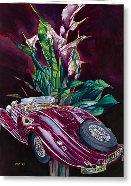 Deutschland Uber Lilies Greeting Card by Mike Hill