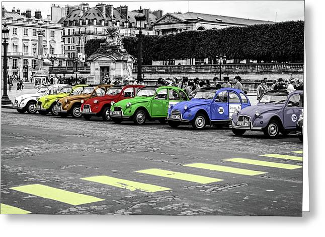 Deux Chevaux In Color Greeting Card