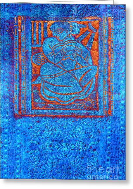 Devi Greeting Card by Floyd Menezes