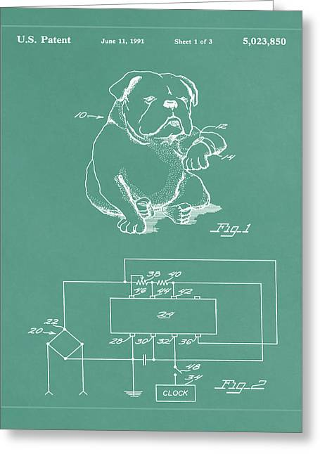 Device For Protecting Animal Ears Patent Drawing 1d Greeting Card by Brian Reaves