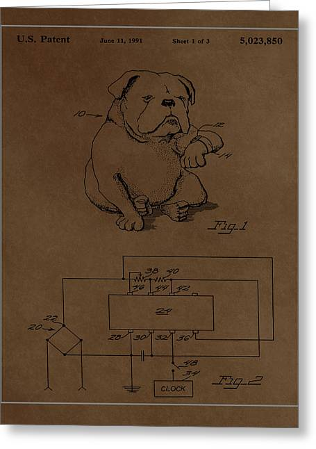 Device For Protecting Animal Ears Patent Drawing 1e Greeting Card by Brian Reaves