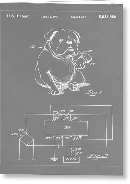 Device For Protecting Animal Ears Patent Drawing 1g Greeting Card by Brian Reaves