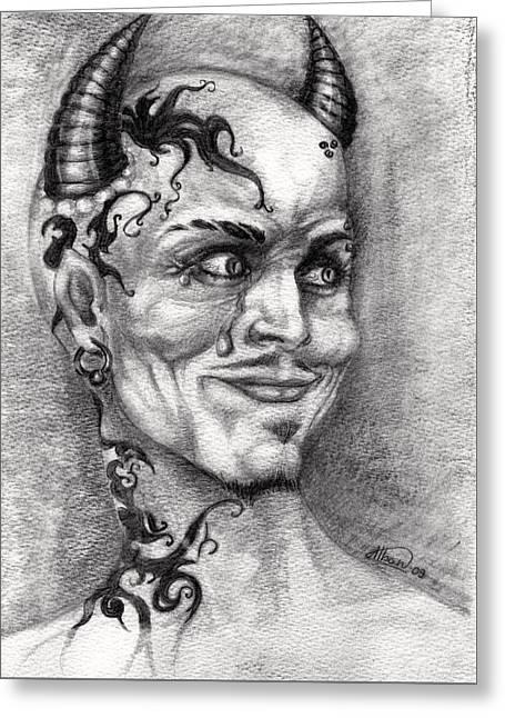 Devil May Cry Greeting Card by Alban Dizdari