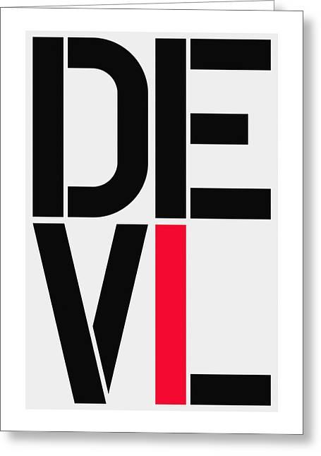 Devil Greeting Card by Three Dots