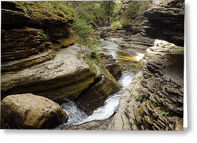 Devil's Bathtub Sd Greeting Card by James Peterson