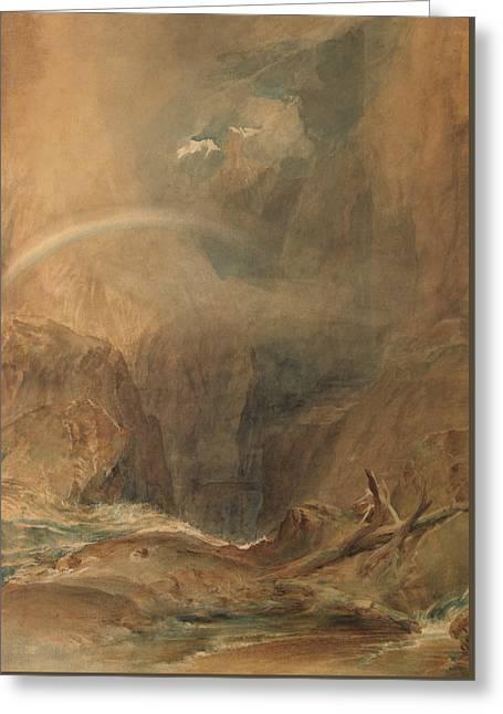 Devil's Bridge Saint Gotthard's Pass Greeting Card by Joseph Mallord William Turner