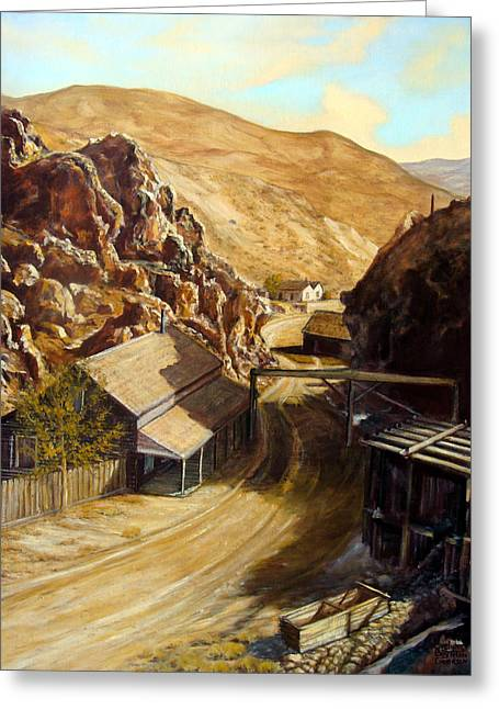Devils Gate Nevada Greeting Card by Evelyne Boynton Grierson