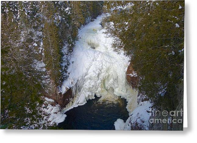 Devil's Kettle Greeting Card by Sandra Updyke