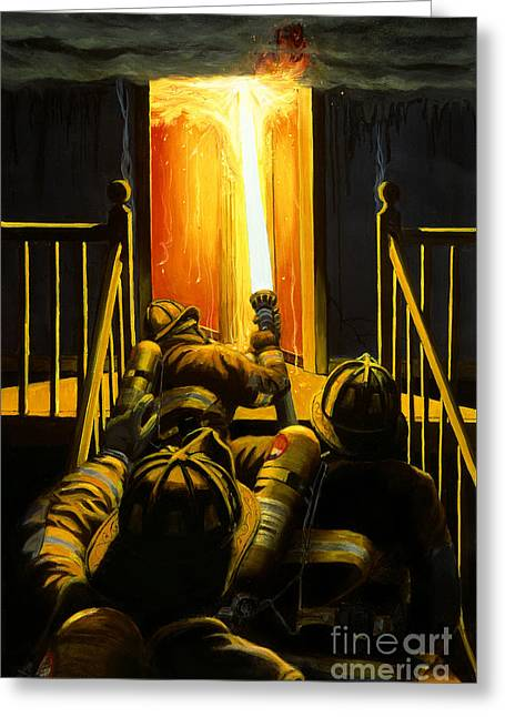 Devil's Stairway Greeting Card by Paul Walsh