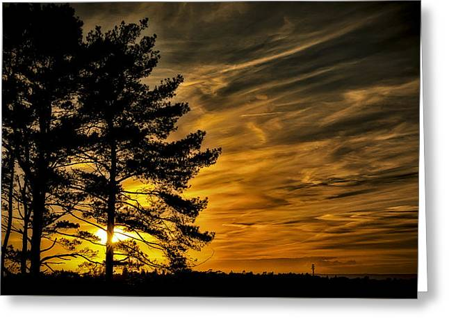 Devils Sunset Greeting Card by Chris Boulton