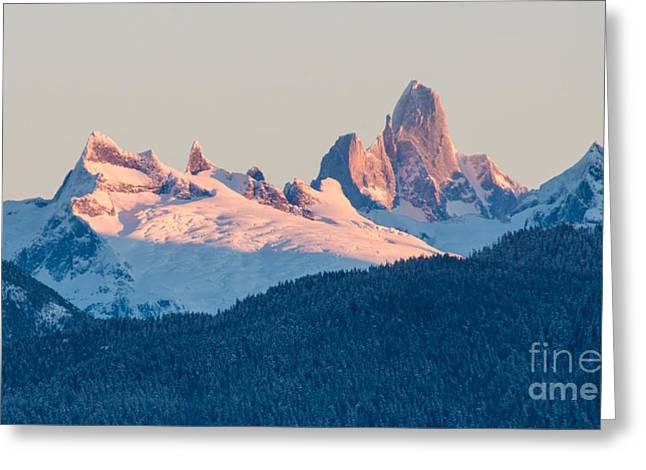 Devils Thumb Alpenglow Greeting Card
