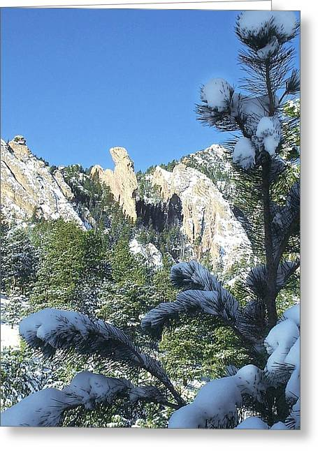 Devil's Thumb In Winter Greeting Card