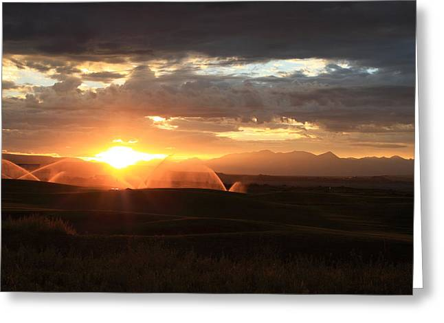 Devils Thumb Sunrise Greeting Card by Kevin Justin