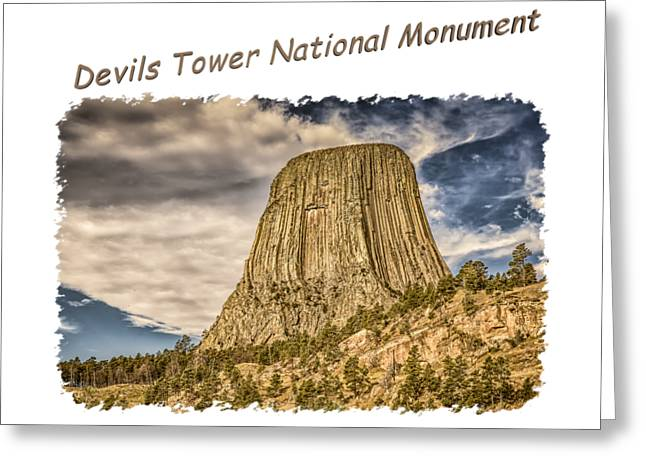 Devils Tower Inspiration 2 Greeting Card by John M Bailey
