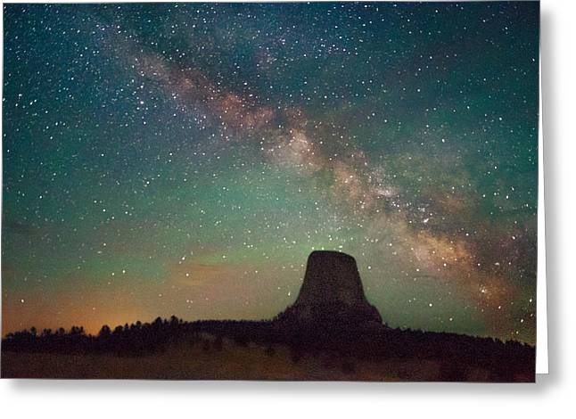 Devils Tower Lights Greeting Card