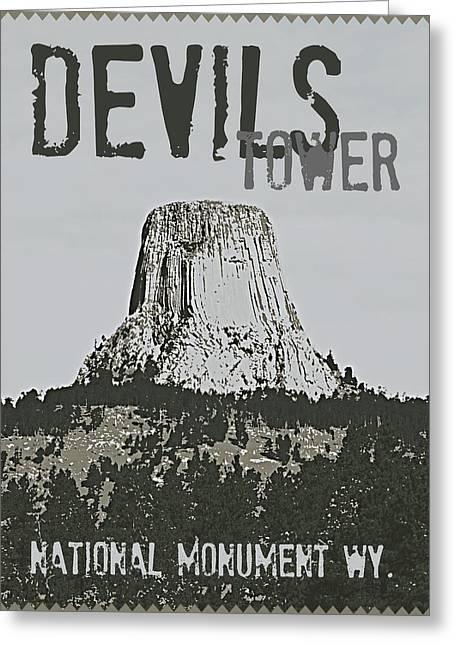 Devils Tower Stamp Greeting Card