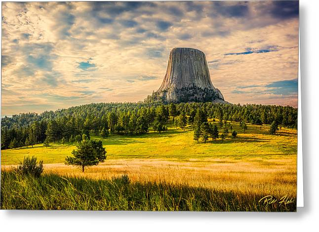 Devil's Tower - The Other Side Greeting Card