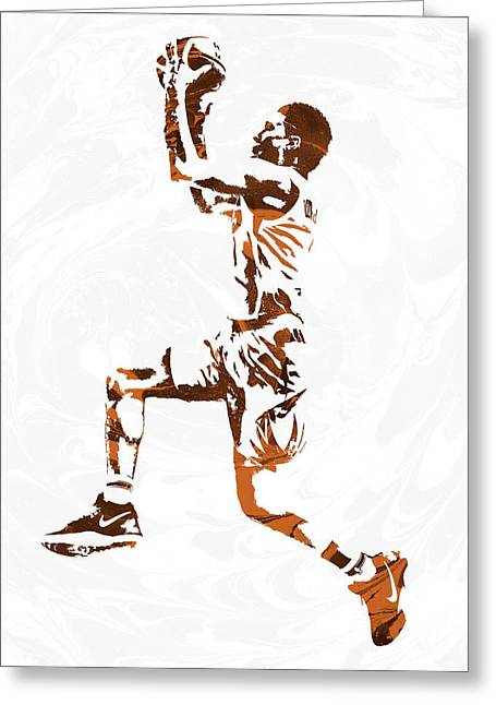 Devin Booker Phoenix Suns Pixel Art Greeting Card